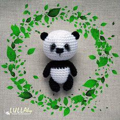 Amigurumi panda keychain bag charm