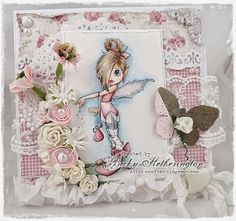 Card by LLC DT Member Becky Hetherington, using papers from Maja Design's Coffee in the Arbour collection. Image from Saturated Canary.