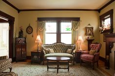 House interior Victorian style living room by Lucidio Studio, via Flickr