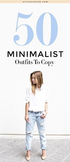 Minimalism has an unending appeal—and the same is true of minimalist fashion. But figuring out how to construct the perfect minimalist wardrobe can be a challenge. Here, 47 minimalist outfit ideas you can wear during any time of year. Mode Outfits, Fashion Outfits, Fashion Tips, Fashion Trends, Fashion Websites, Fashion Stores, Ladies Fashion, Girl Outfits, Womens Fashion