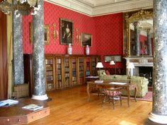 The library at Bantry House - one of the few 'big houses' to survive the War of Independence - Bantry, Cork, Ireland