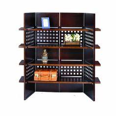 ORE International N1032-4-WALNUT 4-Panel Walnut Finish Room Divider with Book Shelves by ORE, http://www.amazon.com/dp/B005UA5PW8/ref=cm_sw_r_pi_dp_JYjAqb1TMKJG4