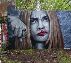 Sheffield, UK: nuovo pezzo dello street artist PawSk1.