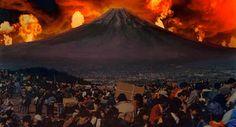 O dragão chorão e  Monte Fuji em vermelho