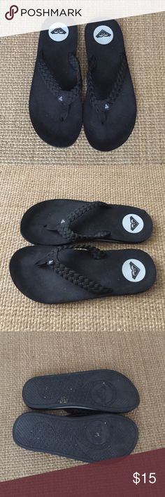 To your Black Sandal's Woman's Size 8 Rocky Black Woman's Sandal's Size 8 Roxy Shoes Sandals