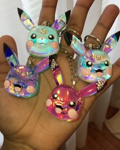 Resin Keychain Charms and more! Diy Resin Art, Diy Resin Crafts, Uv Resin, Handmade Crafts, Resin Molds, Silicone Molds, Easy Crafts, Rhinestone Jewelry, Diy Jewelry
