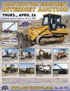 Construction Equipment Auction  April 26, 2012  http://purplewave.co/120426