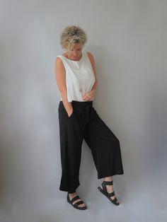 Eine schwarze Culotte | women2style