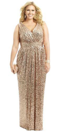 Elegant Plus Size Bridesmaid Dresses Evening Gold