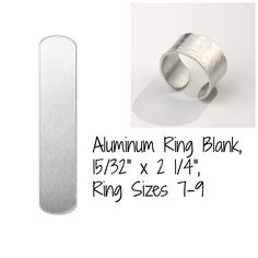 Aluminum Ring Blank-15/32 x 2 1/4 inch-Ring Blank-Size 7-9 ImpressArt Brand-10 Pack-Ring Blank -for Stamping-Metal Supply Chick-IAD1240145 by metalsupplychick on Etsy