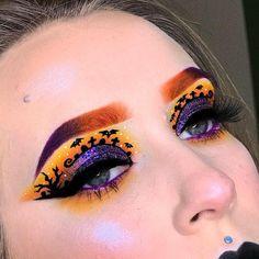 Edgy Makeup, Eye Makeup Art, Fall Makeup, Eye Art, Halloween Eyeshadow, Maquillage Halloween, Halloween Makeup, Eyeshadow Designs, Holiday Makeup Looks