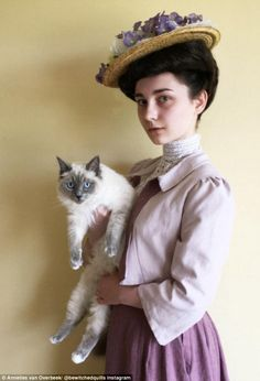 Edwardian look: Aside from fashion from films Ms van Overbeek has also done her take on period fashion