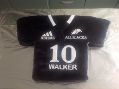 All Black Jersey cake for a 10 year old mad on the AB's.