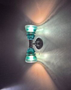 Glass Insulator Dual Wall Sconce Light by luceantica on Etsy
