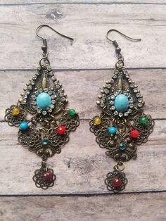 Colorful fashion fun  https://www.etsy.com/listing/486487748/rhinestone-chandelier-earrings-dangle