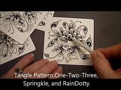 OneTwoThree, Springkle and RainDottyTangle Pattern Lesson #15 - YouTube