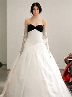 i love a black and white wedding dress