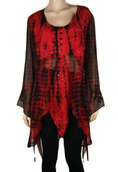 3547a0eec87 FESTIVAL – Gothic Renaissance Beaded w Mesh Tie Dye Top Sz 14 – 16 Au