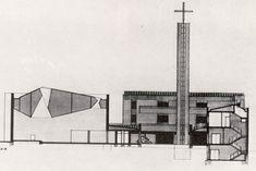 Fernández del Amo. Sección de la Iglesia de Nª Sª de la Luz.
