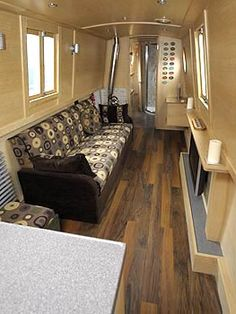 living Barge Interior, Best Interior, Interior And Exterior, Canal Boat Interior, Boat Pics, Narrowboat Interiors, Dutch Barge, Floating Homes, Narrow Boat