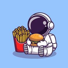 Astronaut Illustration, Illustration Vector, Graphic Design Illustration, Cartoon Styles, Cute Cartoon, Cartoon Art, Coperate Design, Flat Design, Astronaut Cartoon