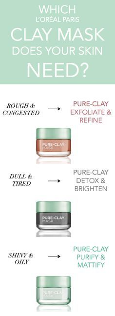 point face mask Introducing L'Oreal Paris Pure-Clay Masks - 3 new clay face masks to target different skin concerns, featuring red algae, black charcoal, and eucalyptus. Face Mask For Blackheads, Acne Face Mask, Face Skin, Face And Body, Clay Face Mask, Clay Masks, Face Masks, Beauty Care, Beauty Hacks