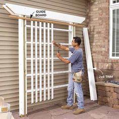 6 foot arbor/trellis--Entry way ideas