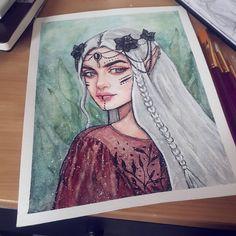 ♥ #watercolor #watercolorpainting #الوان_مائية