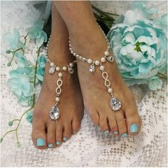 Say I do at your beach wedding wearing our infinity barefoot sandals. Gorgeous footless sandals that show your eternal love with an infinity symbol.