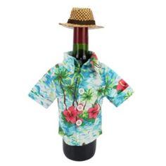 Celebrate+Summer+Together+Tropical+Shirt+Wine+Bottle+Cover