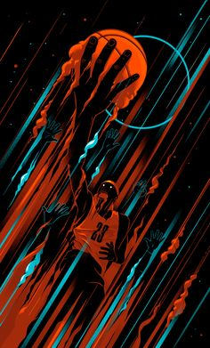 Lebron James, Basketball Illustration done with my boys at AMICOLLECTIVE.