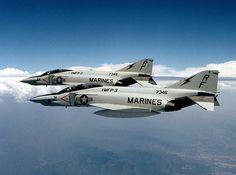 U.S. MARINE F-4 PHANTOM   The US Marine Corps used the F-4 as a ground-support bomber. - Image ...