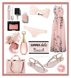 """SUMMER DATE "" by babytuntun ❤ liked on Polyvore featuring Corto Moltedo, Lisa Marie Fernandez, NARS Cosmetics, Christian Dior, IPANEMA, Chanel, Bare Escentuals, Bobbi Brown Cosmetics, beach and summerdate"