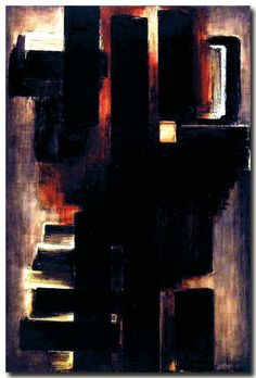 Pierre Soulages on ArtStack - art online Action Painting, Abstract Expressionism, Abstract Art, Modern Art, Contemporary Art, Art Informel, Art Pierre, Love Art, Buy Art