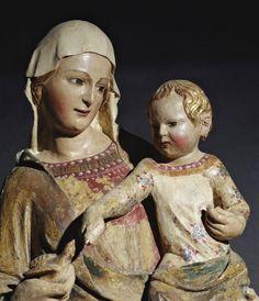 Nino Pisano, attr.    Madonna con Bambino, particolare, XIV d.C.