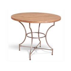 Industrial Heritage wooden round slat table