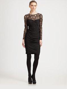 Moschino Cheap And Chic Lace Illusion Dress