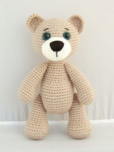 This written crochet pattern in English and US terminology includes all the instructions needed to make a cute crocheted bear named Kris. Pattern includes step-by-step pictures. If you have any questions about the pattern, please feel free to contact me. Skill level: easy The