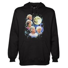Buy Bioworld The Golden Girls Women's Four Golden Girls Moon hoodie This hoodie is Made To Order, one by one printed so we can control the quality. We use newest DTG Technology to print on to Bioworld The Golden Girls Women's Four Golden Girls Moon hoodie Funny Shirt Sayings, Shirts With Sayings, Funny Shirts, Yeezus Hoodie, Hooded Sweatshirts, Hoodies, Golden Girls, Direct To Garment Printer, Shirt Style