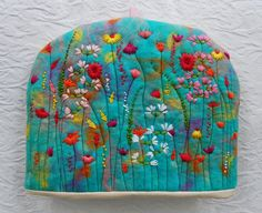 Hand Embroidered and Hand Felted Cottage Flower Garden by Gertrood, £35.00