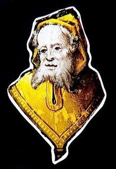 Réunion des Musées Nationaux-Grand Palais - Musée d'Ecouen: vitraux - Buste d'homme barbu portant barbe et capuche. Ec.133. Fragment de vitrail, XVI°s, France (origine). Grisaille et jaune d'argent. Ht 0,23, L: 0,14 m.
