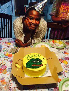 My super rare Pepe cake and I