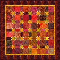 """Sashing Stars - 5 Charm Quilt Pattern.  Quilt finishes 45"""" square."""