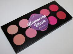 BH Cosmetics Glamorous Blush Palette Swatches & Review | Blushing NoirBlushing Noir