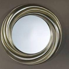 Swirly round mirror