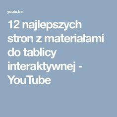12 najlepszych stron z materiałami do tablicy interaktywnej - YouTube Office 2020, Kids And Parenting, Teacher, Youtube, Education, Maths, Geography, Professor