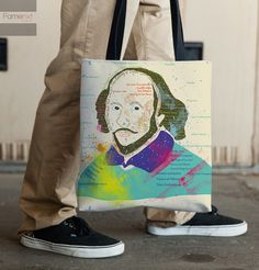 Tote Bag. Colorful Typographic Portrait of by FamenxtFiesta