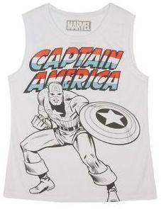 Marvel Women's Captain America Tank White