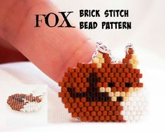 Fox - Beading PATTERN, Beaded Animals, Delica Beads Brick Stitch by BeadCrumbs on Etsy https://www.etsy.com/listing/240708173/fox-beading-pattern-beaded-animals