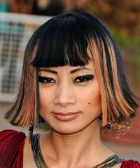 View yourself with this Bai Ling Medium Straight Bob Haircut Celebrity Hairstyles, Down Hairstyles, Easy Hairstyles, Straight Hairstyles, Damp Hair Styles, Curly Hair Styles, Straight Bob Haircut, Bai Ling, New Hair Do